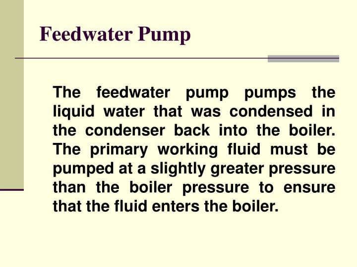 Feedwater Pump