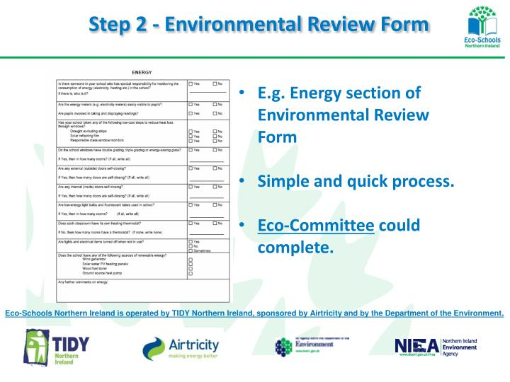 Step 2 - Environmental Review Form