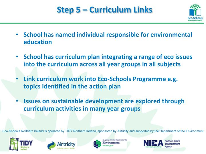 Step 5 – Curriculum Links