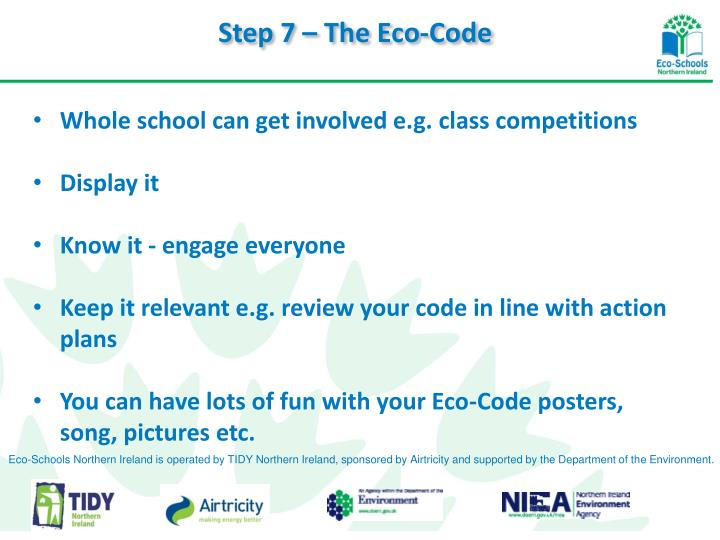 Step 7 – The Eco-Code