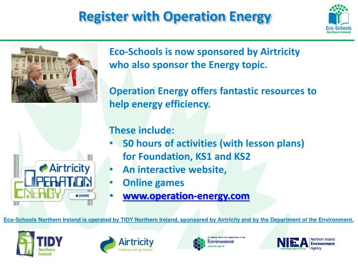 Register with Operation Energy