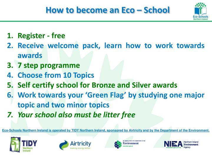 How to become an Eco – School