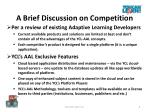 a brief discussion on competition