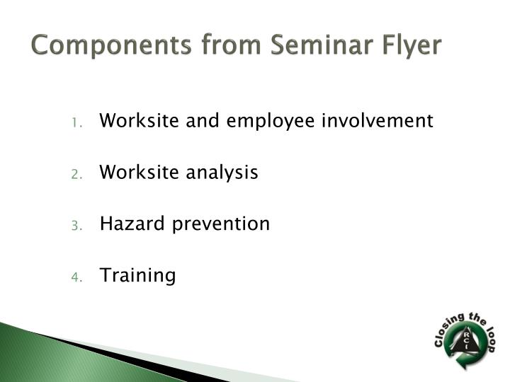 Components from Seminar Flyer