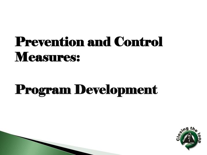 Prevention and Control Measures:
