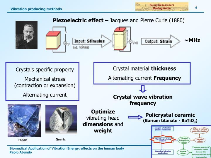 Vibration producing methods