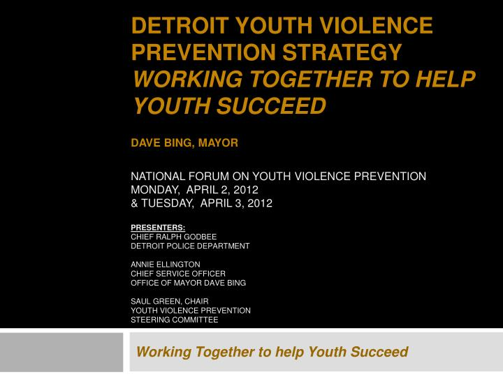 Working together to help youth succeed