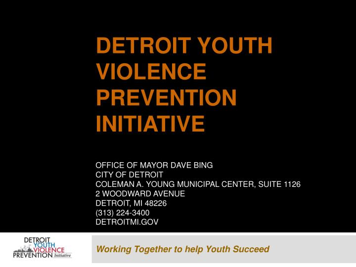 Detroit Youth Violence