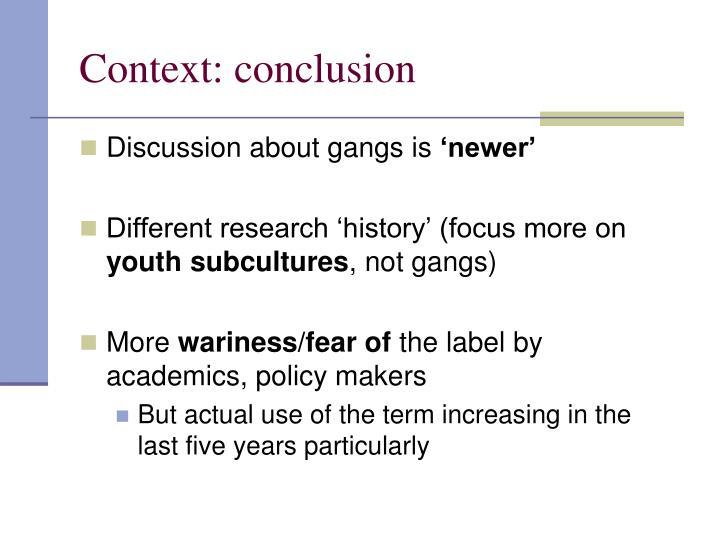 Context: conclusion