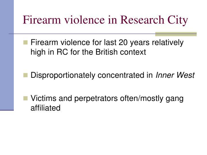 Firearm violence in Research City