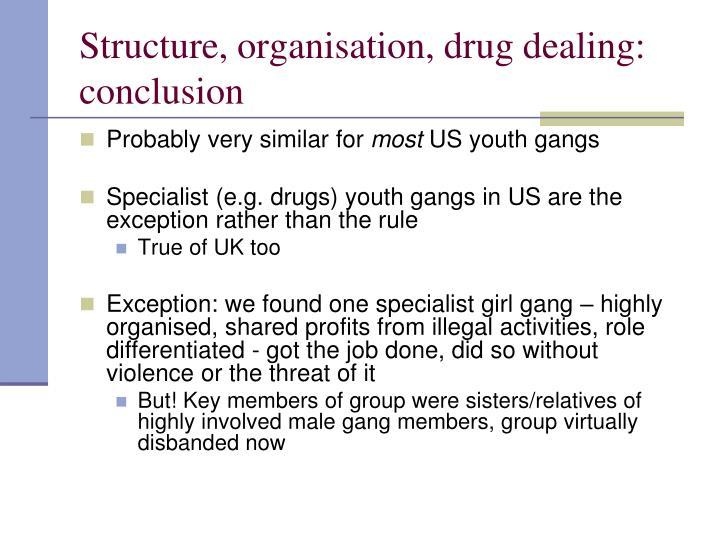 Structure, organisation, drug dealing: conclusion