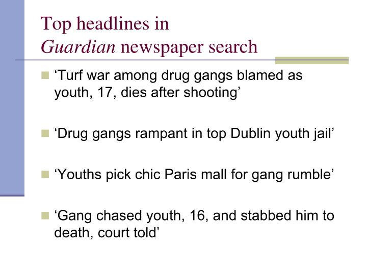 Top headlines in