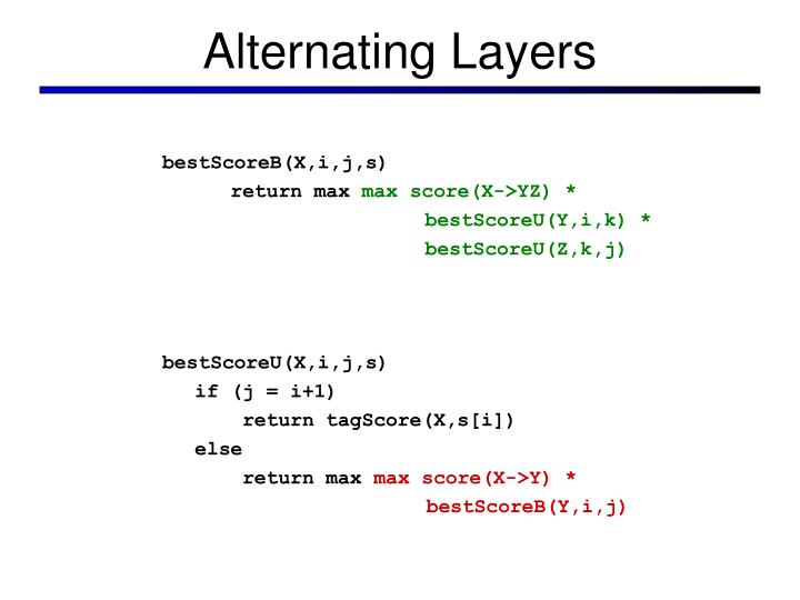 Alternating Layers