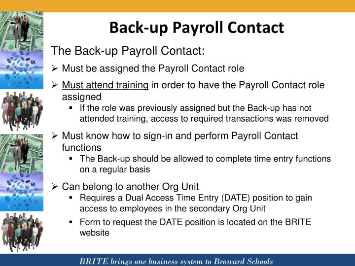 Back-up Payroll