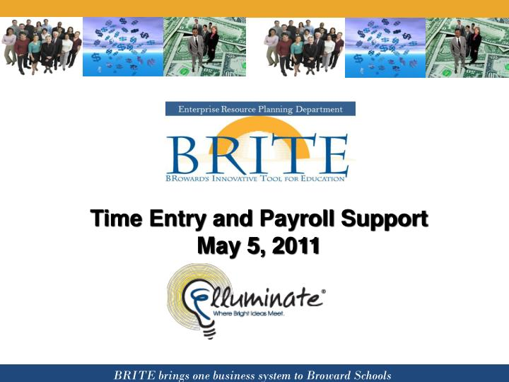 Time entry and payroll support may 5 2011