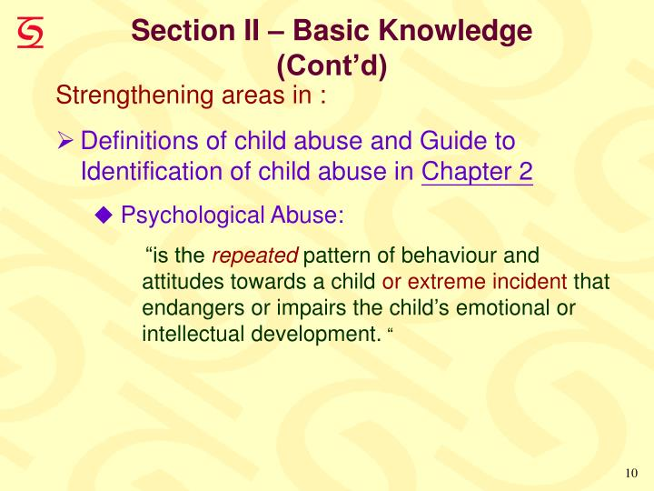Section II – Basic Knowledge