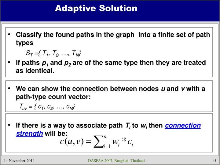 Adaptive Solution