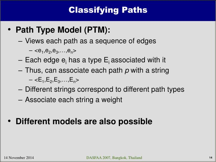 Classifying Paths