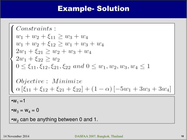 Example- Solution