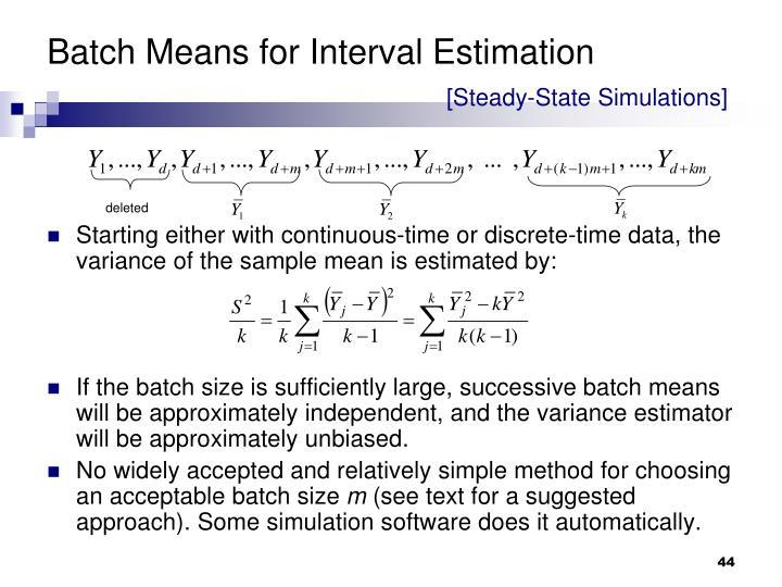Batch Means for Interval Estimation