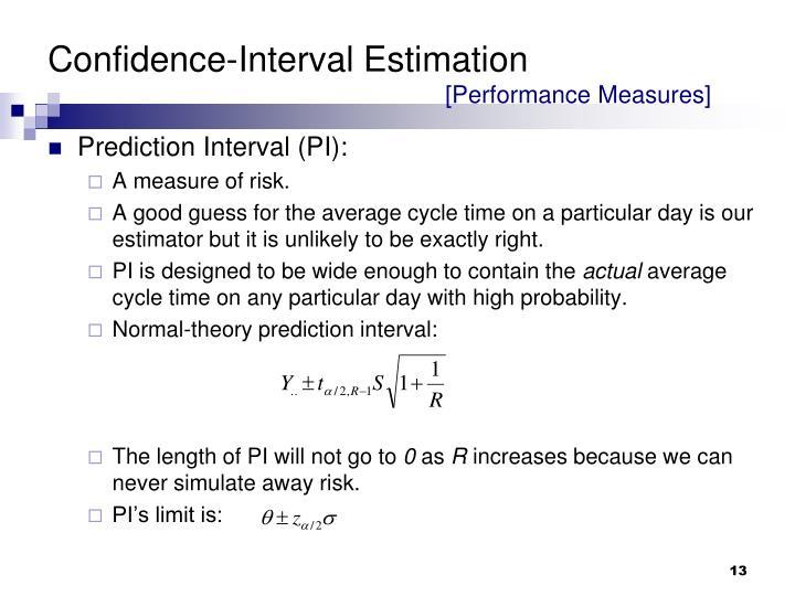 Confidence-Interval Estimation