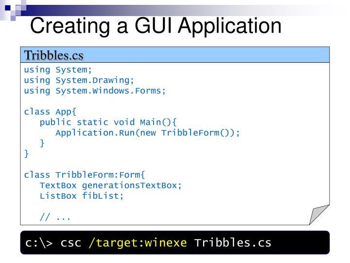 Creating a GUI Application