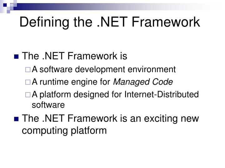 Defining the .NET Framework