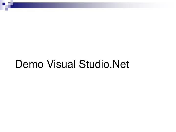 Demo Visual Studio.Net