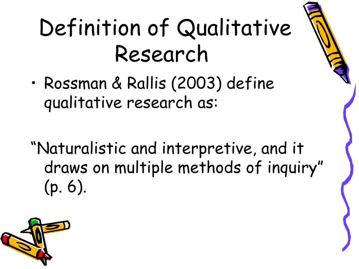Definition of Qualitative Research