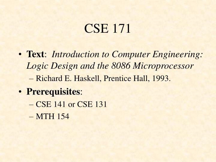 CSE 171