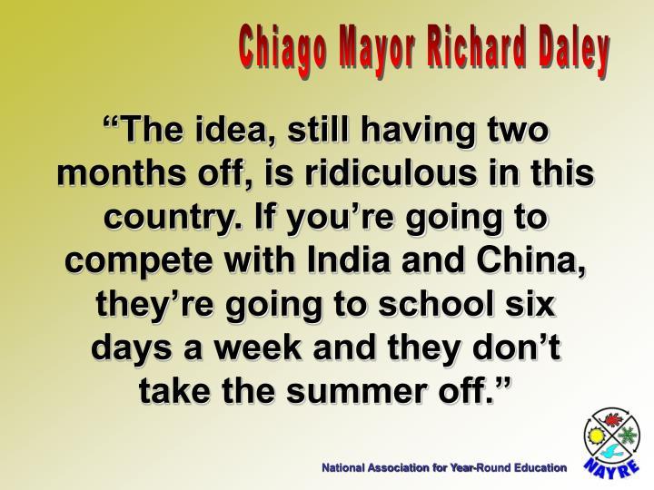 Chiago Mayor Richard Daley