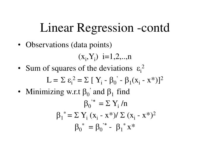 Linear Regression -contd