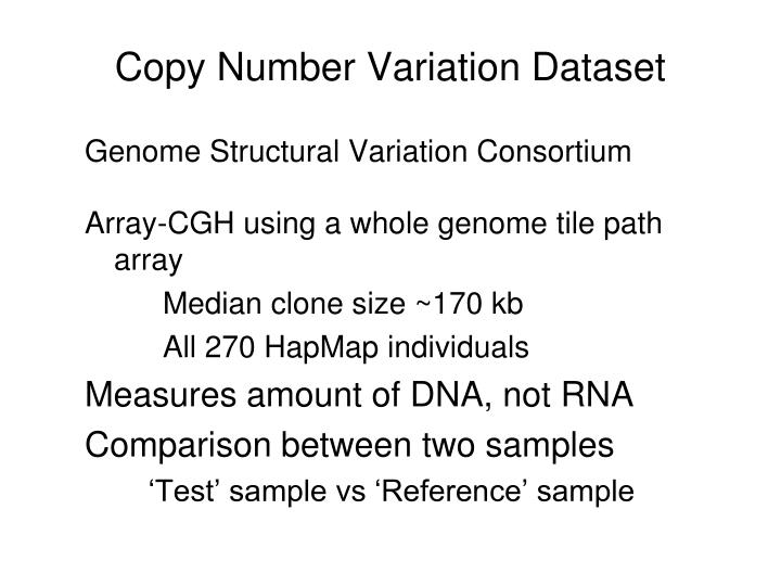 Copy Number Variation Dataset