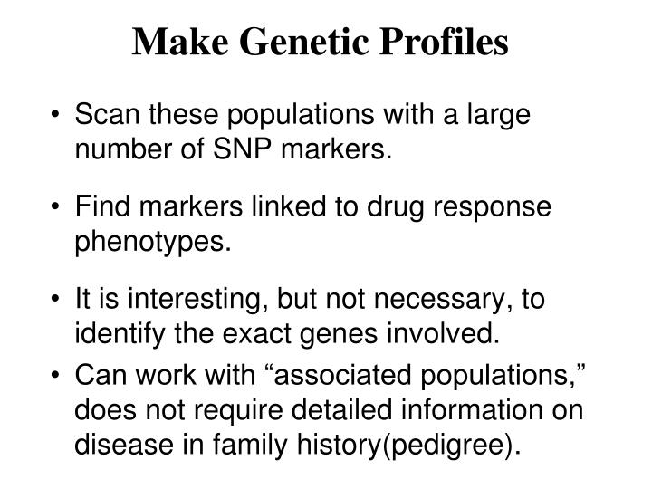 Make Genetic Profiles
