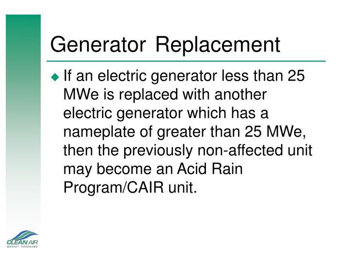 GeneratorReplacement