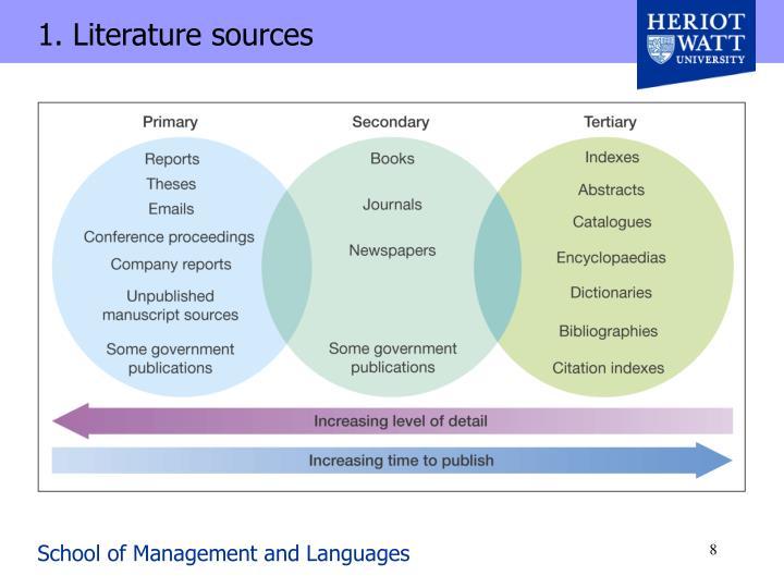 1. Literature sources
