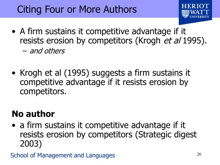 Citing Four or More Authors
