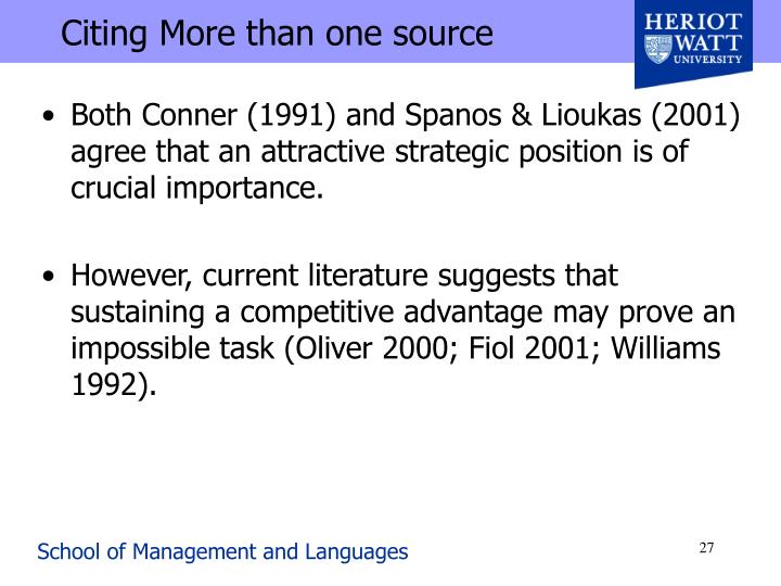 Citing More than one source