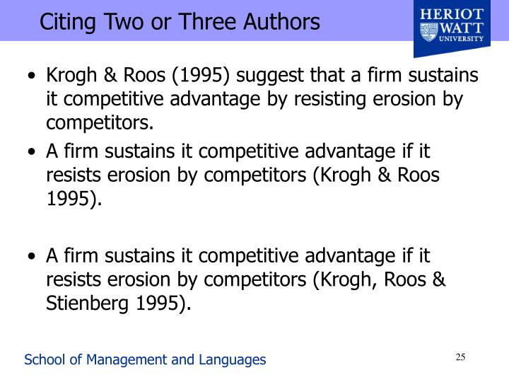 Citing Two or Three Authors