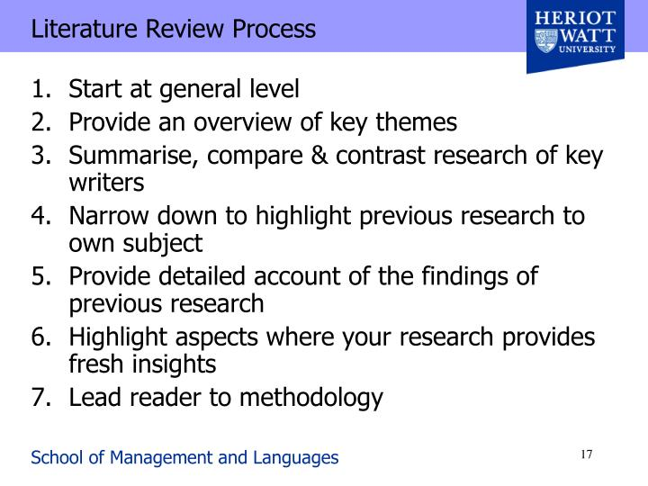 Literature Review Process