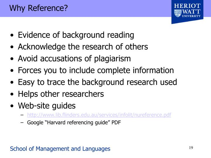 Why Reference?