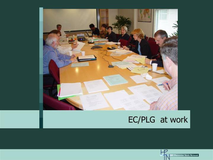 EC/PLG  at work