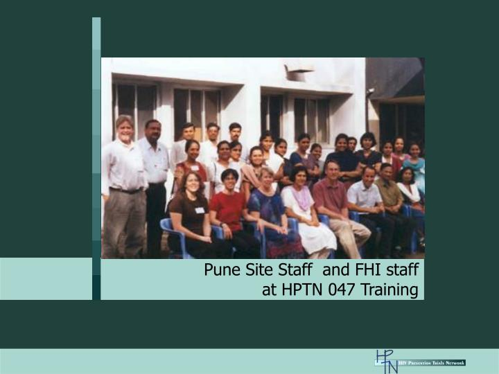 Pune Site Staff  and FHI staff