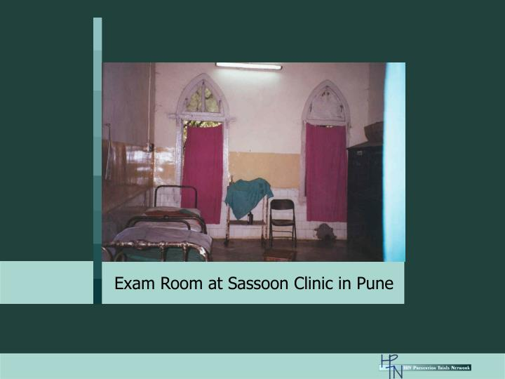 Exam Room at Sassoon Clinic in Pune