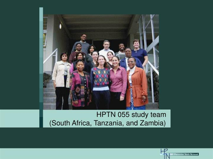 HPTN 055 study team