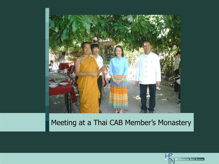 Meeting at a Thai CAB Member's Monastery