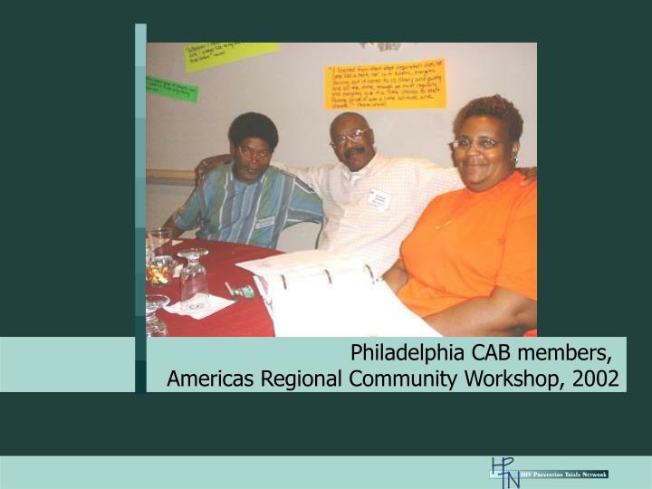 Philadelphia CAB members,