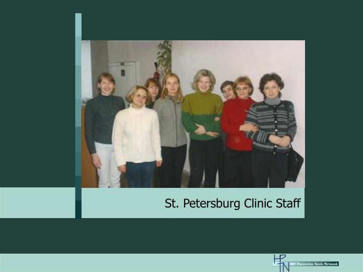 St. Petersburg Clinic Staff