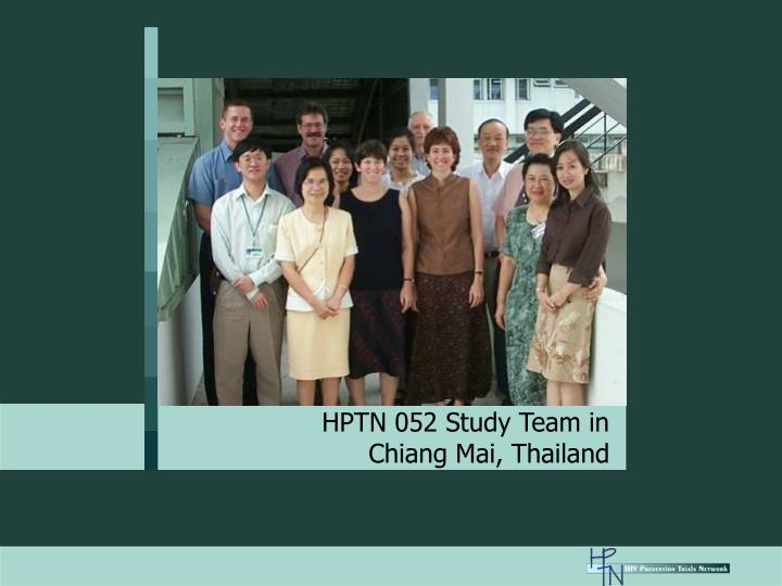 HPTN 052 Study Team in