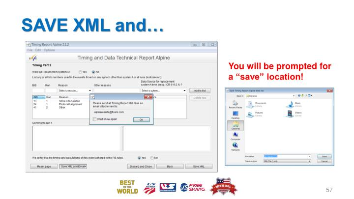 SAVE XML and…